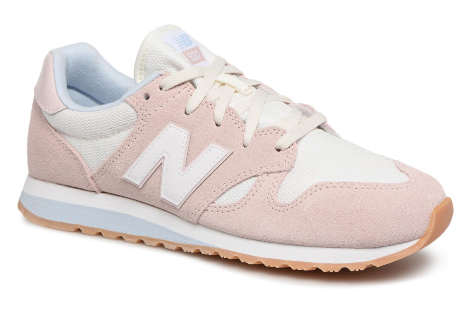 New Balance WL520 (Rose) - Baskets en Más cómodo Chaussures casual sauvages