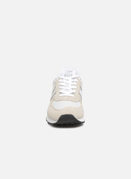 Baskets New Balance WS574 Beige vue portées chaussures