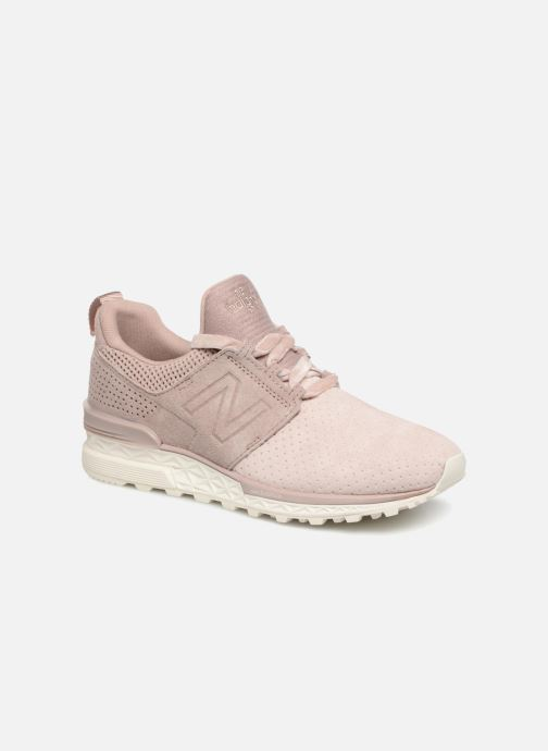 Baskets New Balance WS574 Rose vue détail/paire
