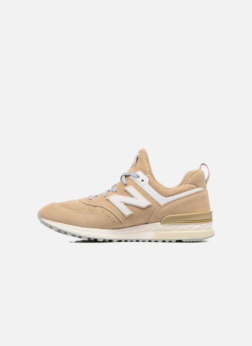 Sneakers New Balance MS574 Beige voorkant