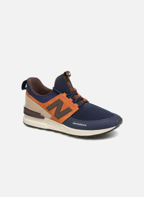 Trainers New Balance MS574 Blue detailed view/ Pair view