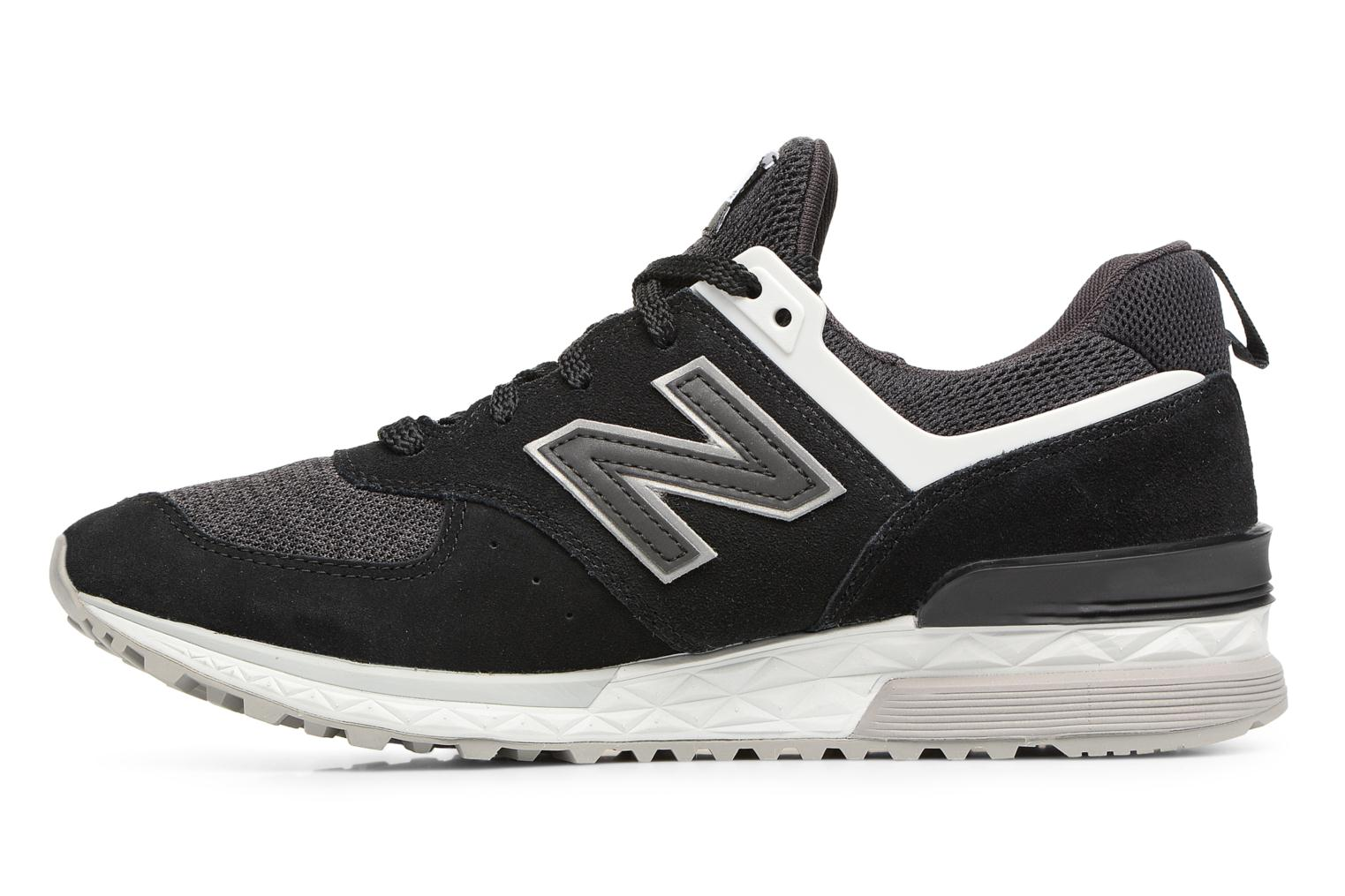 Sneakers New Balance MS574 Nero immagine frontale