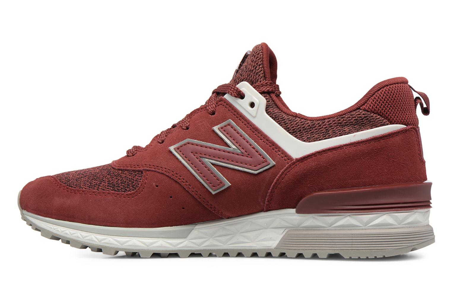 Sneakers New Balance MS574 Rosso immagine frontale