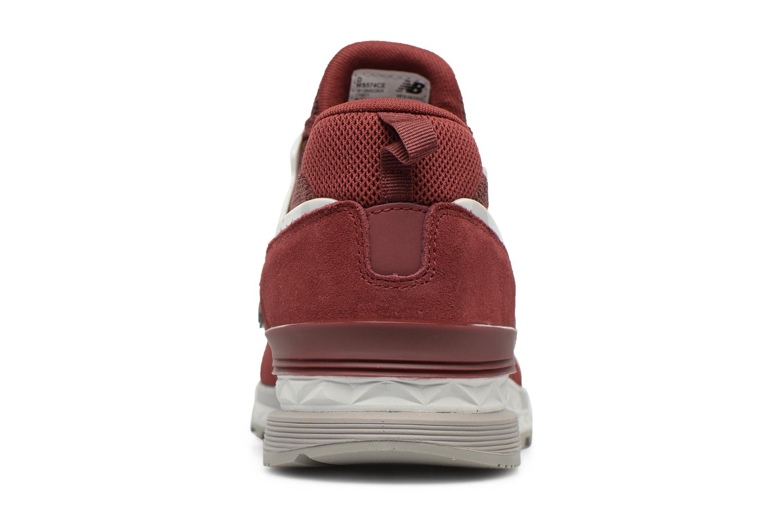 Sneakers New Balance MS574 Rosso immagine destra