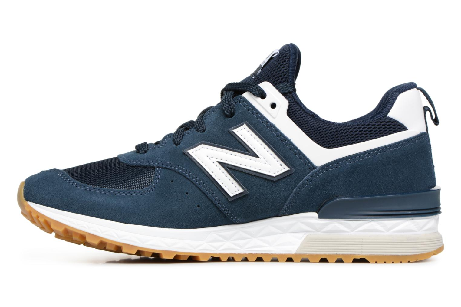 Baskets New Balance MS574 Bleu vue face