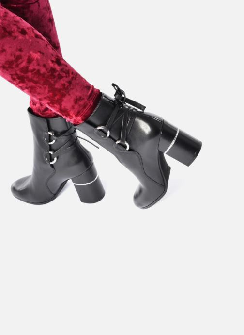 Ankle boots What For Ross Calf Grey view from underneath / model view