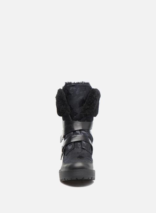 Bottes What For George Noir vue portées chaussures