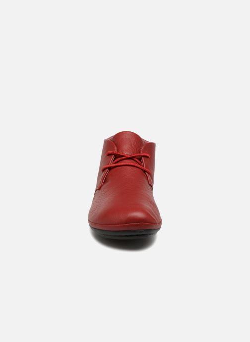 Schnürschuhe Camper Right Nina K400221 rot schuhe getragen