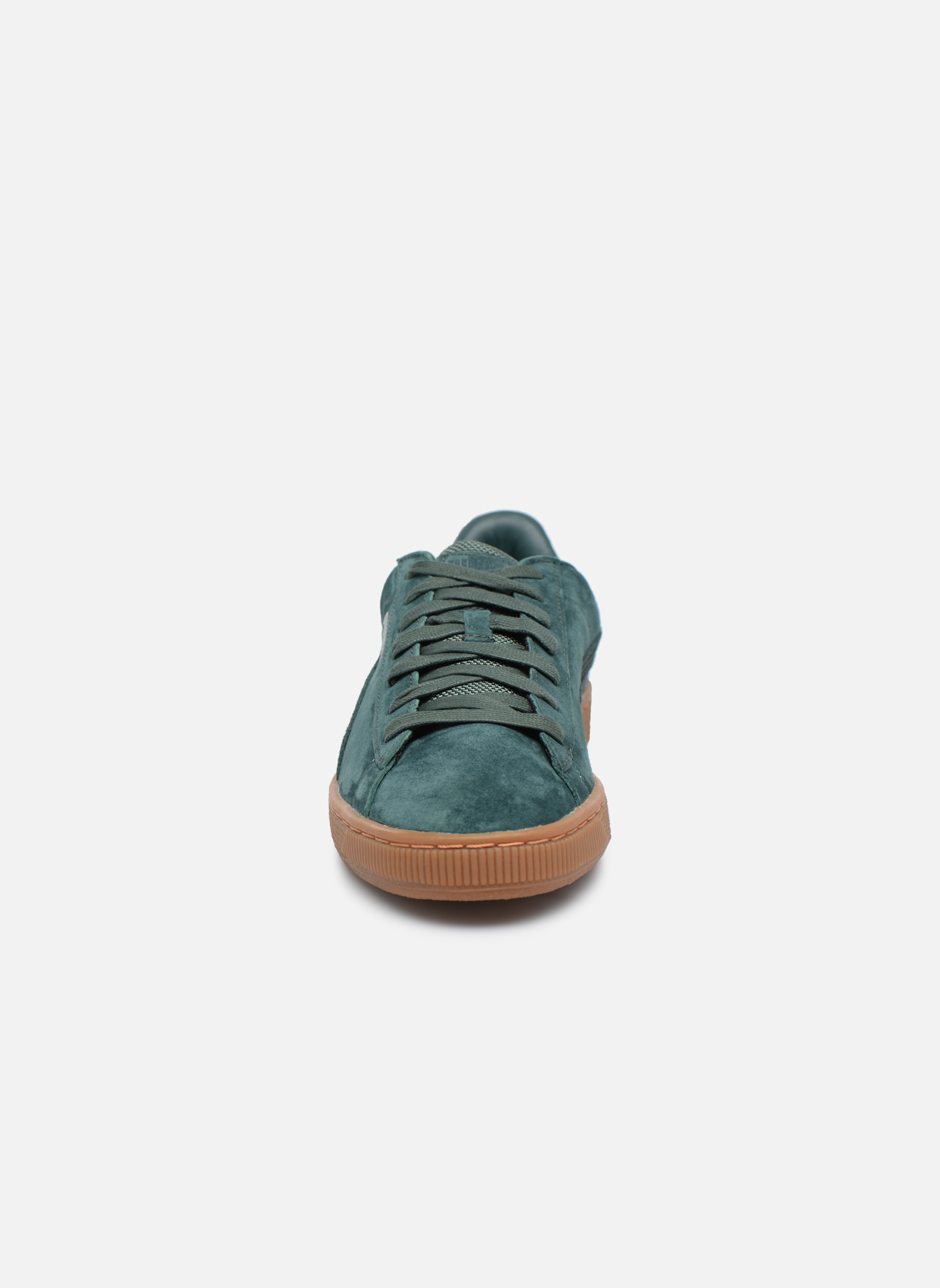 Sneakers Puma Basket Weatherproof Verde modello indossato