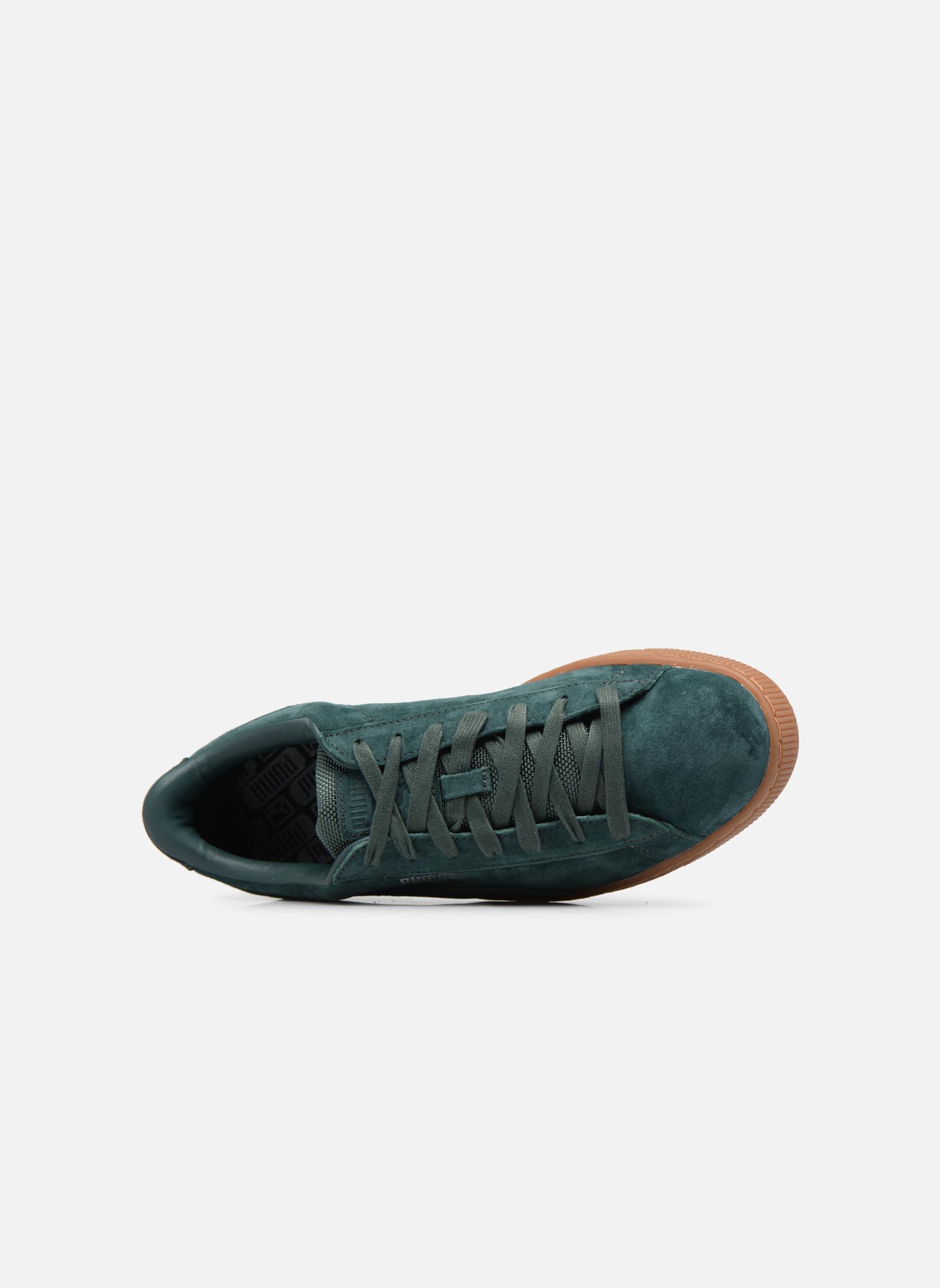Sneakers Puma Basket Weatherproof Verde immagine sinistra