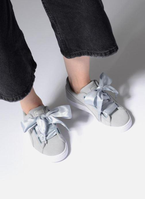 Sneakers Puma Basket heart Msafari Wn's Grigio immagine dal basso