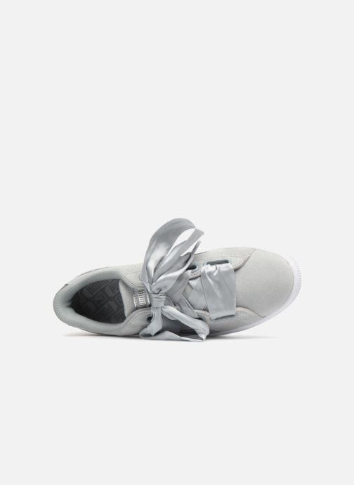 Sneakers Puma Basket heart Msafari Wn's Grigio immagine sinistra