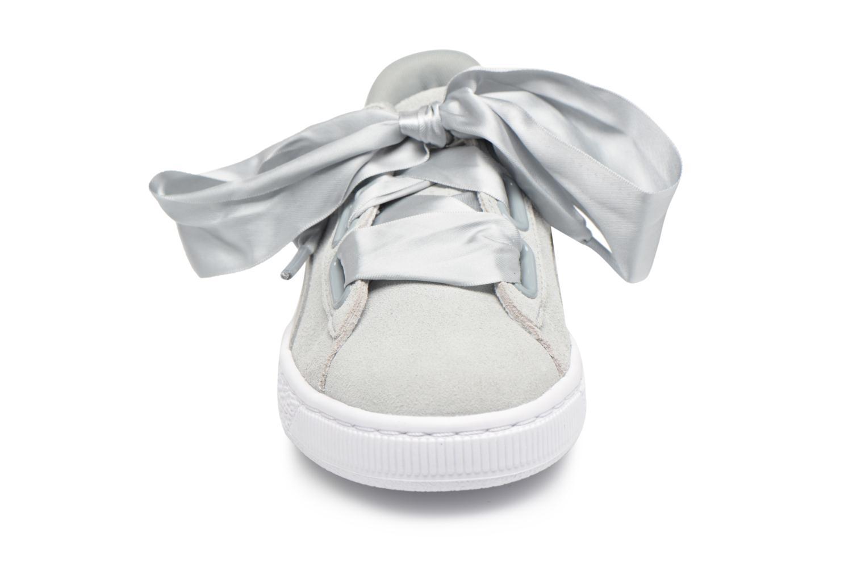 Baskets Puma Basket heart Msafari Wn's Gris vue portées chaussures