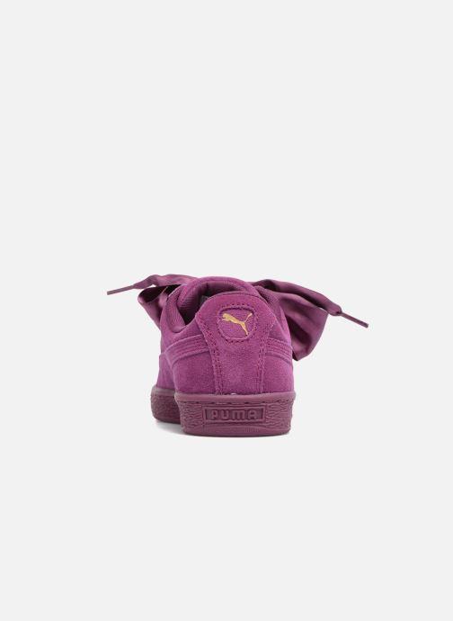 Baskets Puma Wns Suede Heart Satin II Violet vue droite