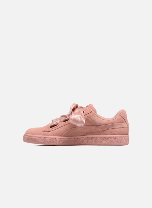 Baskets Puma Wns Suede Heart Satin II Rose vue face