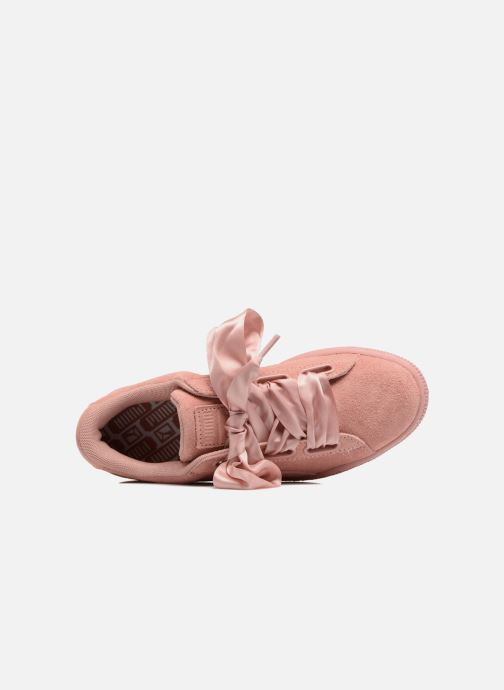 Baskets Puma Wns Suede Heart Satin II Rose vue gauche