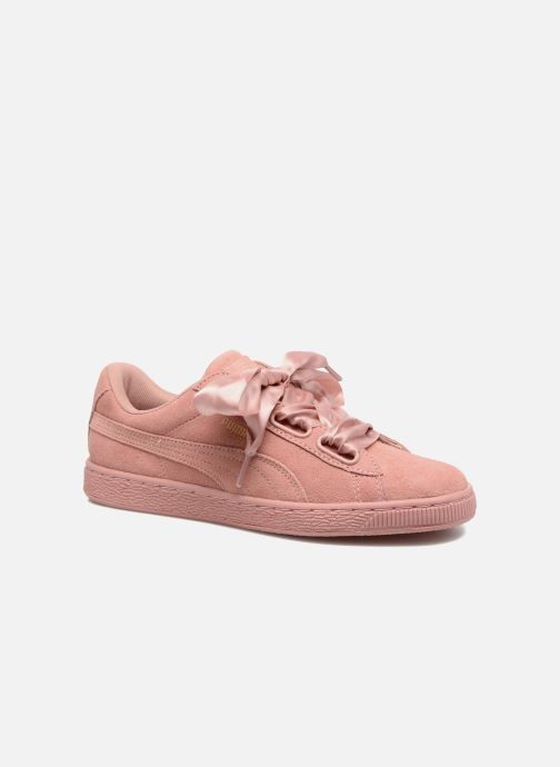 Baskets Puma Wns Suede Heart Satin II Rose vue détail/paire