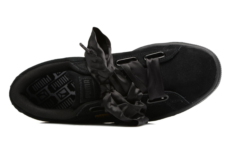 Baskets Puma Wns Suede Heart Satin II Noir vue gauche