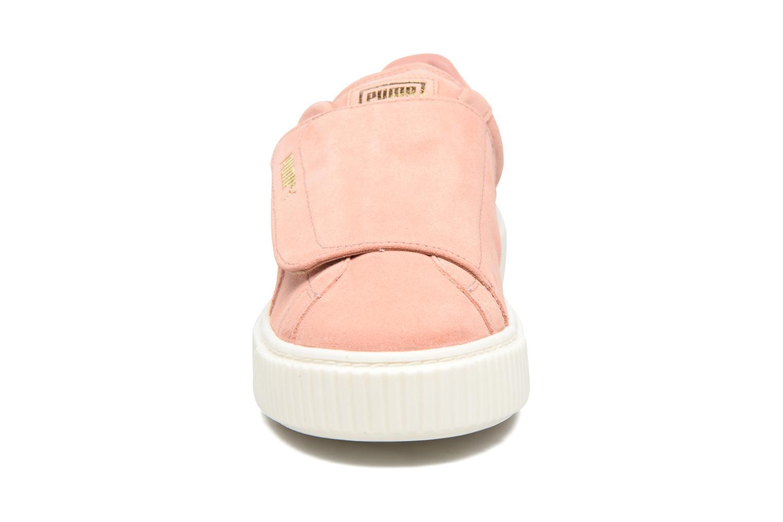 Baskets Puma Wns Suede Plat Bigv Rose vue portées chaussures