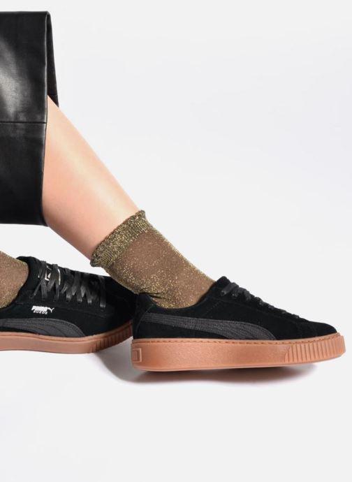 Baskets Puma Wns Suede Platform Gum Noir vue bas / vue portée sac