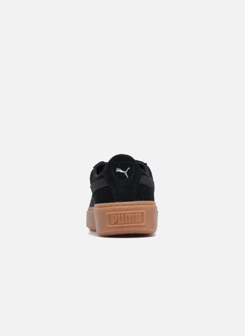 Baskets Puma Wns Suede Platform Gum Noir vue droite