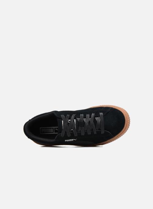 Baskets Puma Wns Suede Platform Gum Noir vue gauche