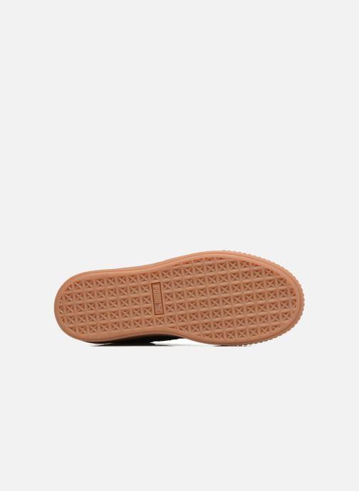 Baskets Puma Wns Suede Platform Gum Noir vue haut