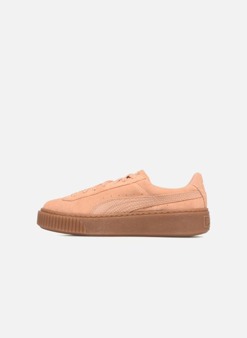 Baskets Puma Wns Suede Platform Gum Orange vue face