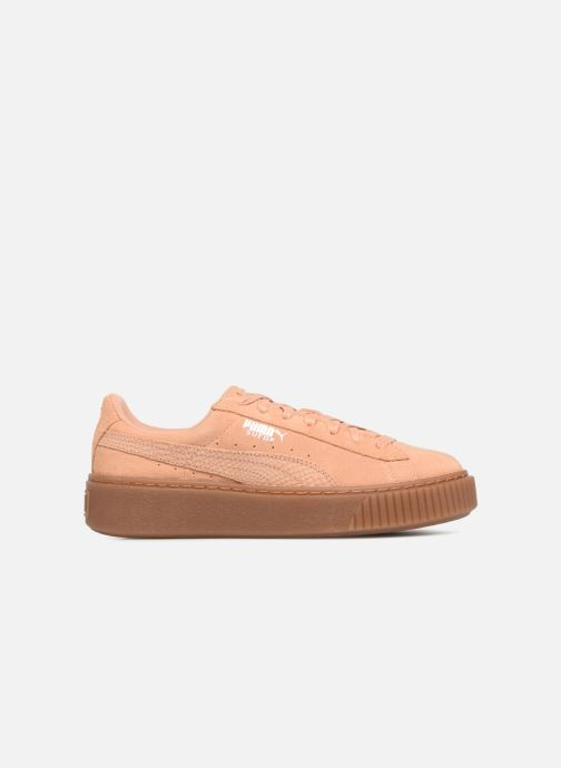 Baskets Puma Wns Suede Platform Gum Orange vue derrière