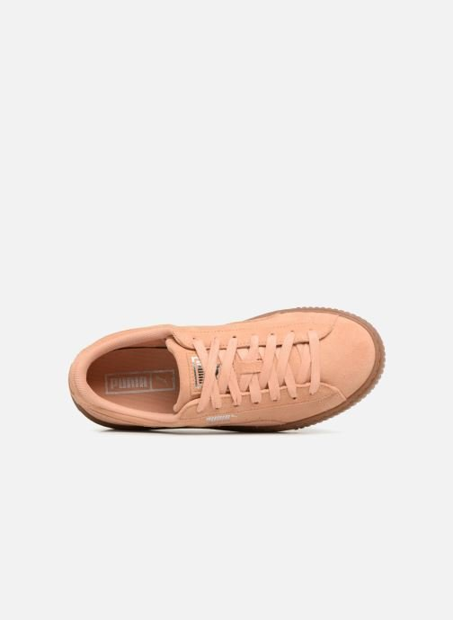 Baskets Puma Wns Suede Platform Gum Orange vue gauche