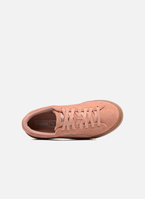 Baskets Puma Wns Suede Platform Gum.Cam Rose vue gauche