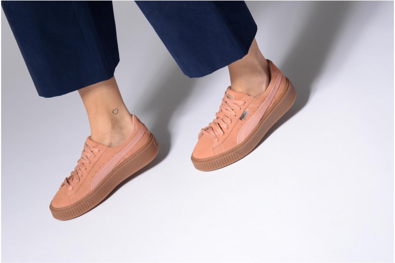 Sneakers Puma Wns Suede Platform Gum.Cam Rosa immagine dal basso