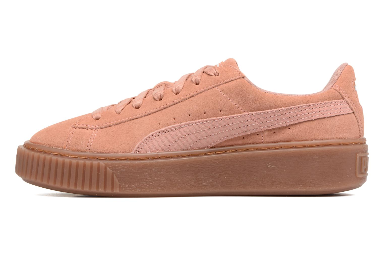 Sneakers Puma Wns Suede Platform Gum.Cam Rosa immagine frontale