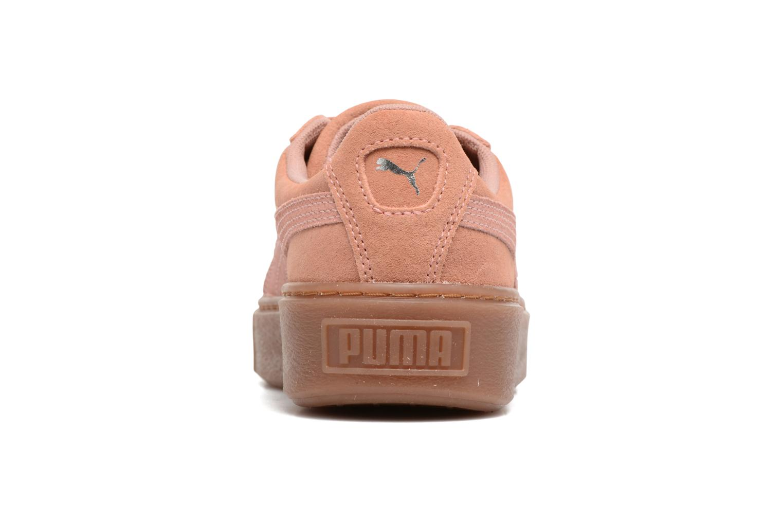 Sneakers Puma Wns Suede Platform Gum.Cam Rosa immagine destra