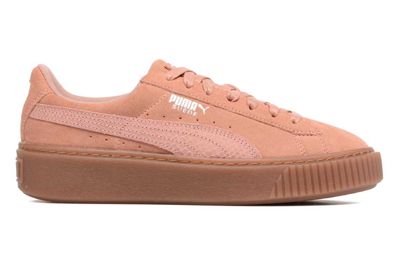 Sneakers Puma Wns Suede Platform Gum.Cam Rosa immagine posteriore