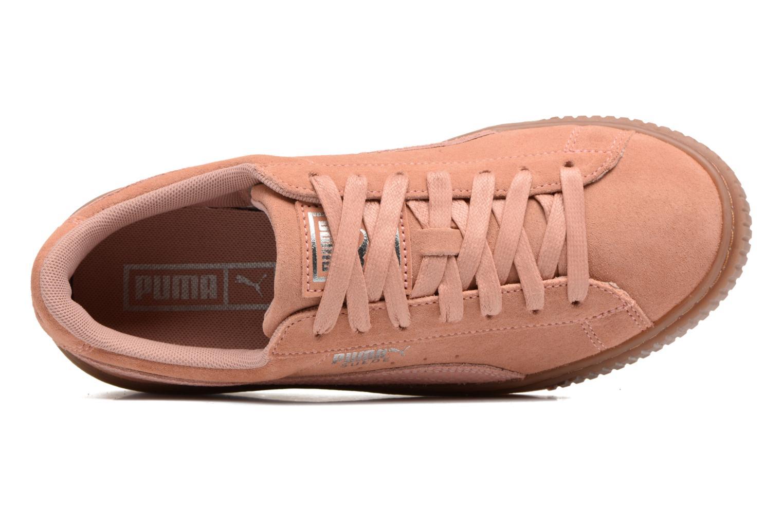 Sneakers Puma Wns Suede Platform Gum.Cam Rosa immagine sinistra