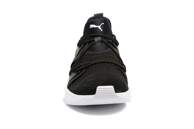 Sneaker Puma Tsugi Blaze schwarz schuhe getragen