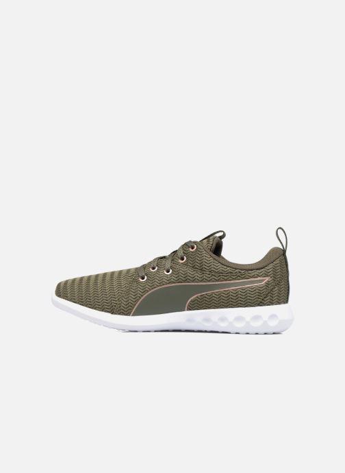 Chaussures de sport Puma Wns Carson 2 Metallic Vert vue face