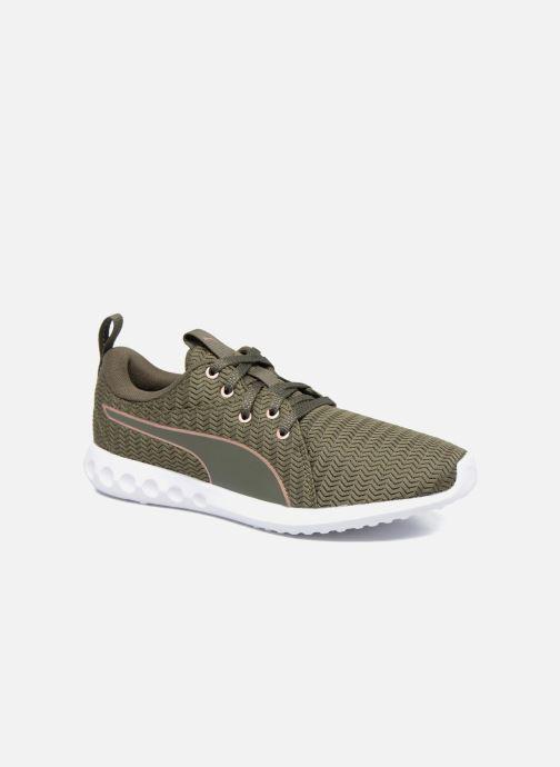 Chaussures de sport Puma Wns Carson 2 Metallic Vert vue détail/paire