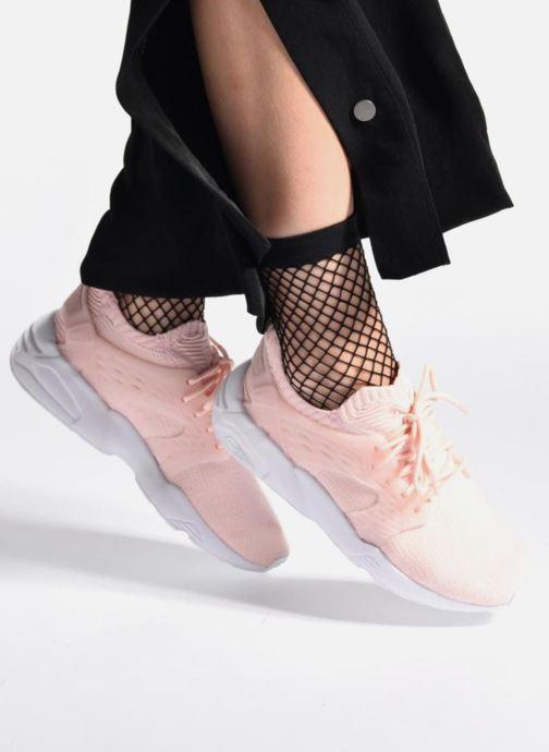 Sneaker Puma Wns Blaze Cage Knit rosa ansicht von unten / tasche getragen