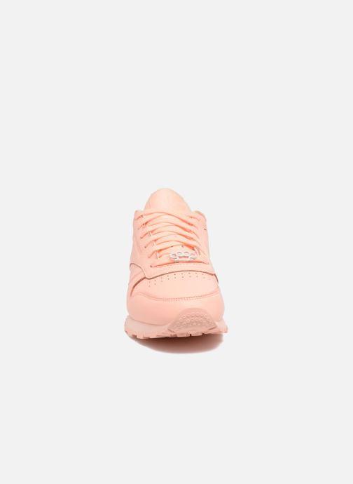 Baskets Reebok Cl Lthr L Orange vue portées chaussures