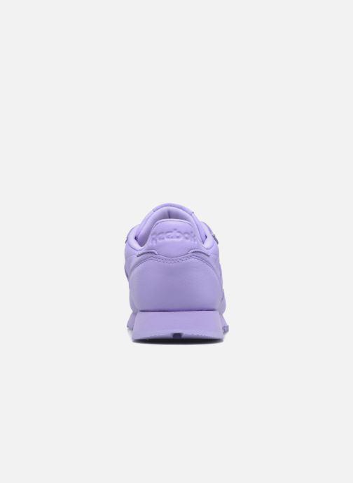 Baskets Reebok Cl Lthr L Violet vue droite