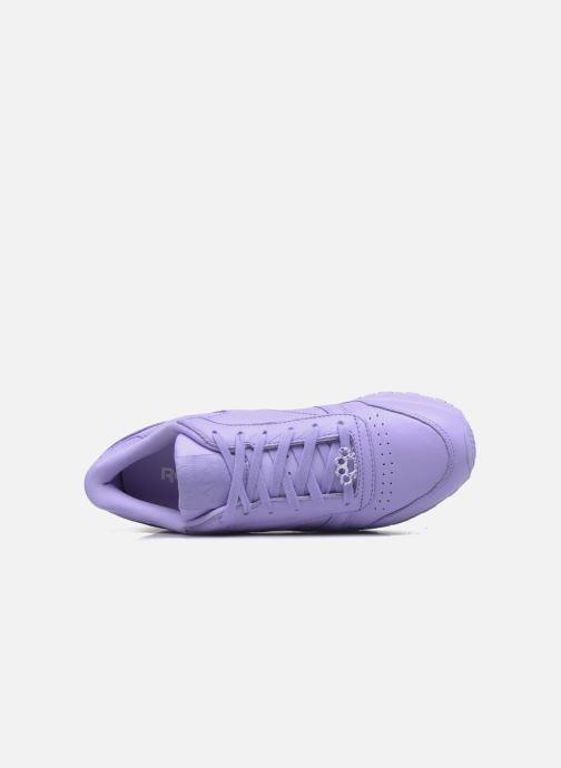Baskets Reebok Cl Lthr L Violet vue derrière