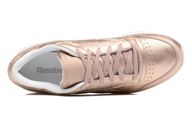 Baskets Reebok Cl Lthr Melted Meta Or et bronze vue gauche