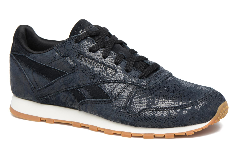 Sneakers Reebok Cl Lthr Clean Exoti Zwart detail
