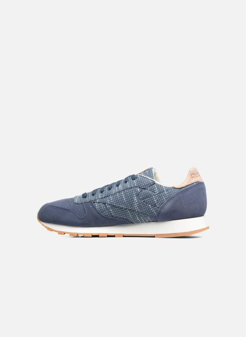 Baskets Reebok Cl Leather Ebk Bleu vue face