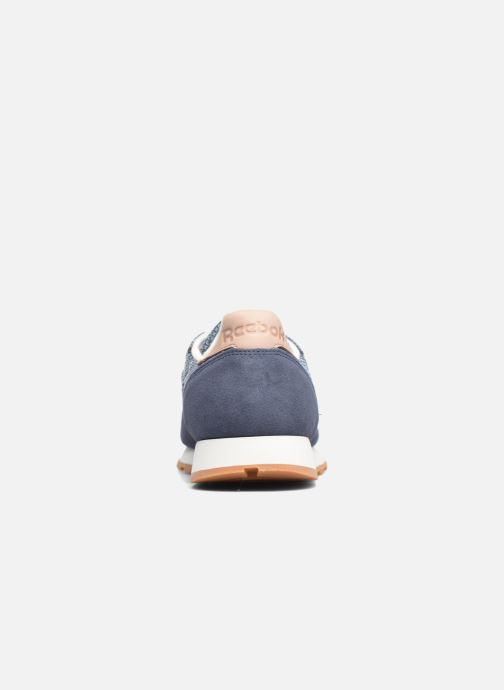 Baskets Reebok Cl Leather Ebk Bleu vue droite