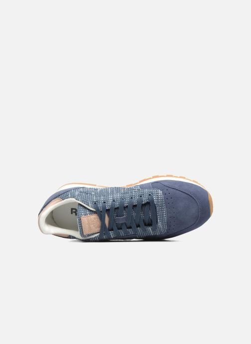 Baskets Reebok Cl Leather Ebk Bleu vue gauche