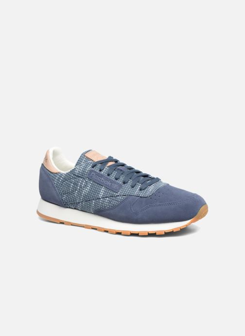 Baskets Reebok Cl Leather Ebk Bleu vue détail/paire