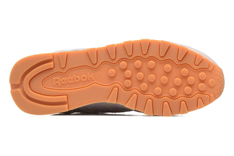 Baskets Reebok Cl Leather Ebk Gris vue haut